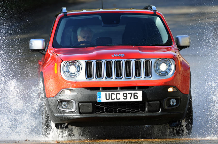 Jeep Renegade in water