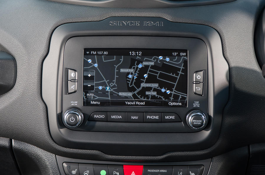 Jeep Renegade infotainment