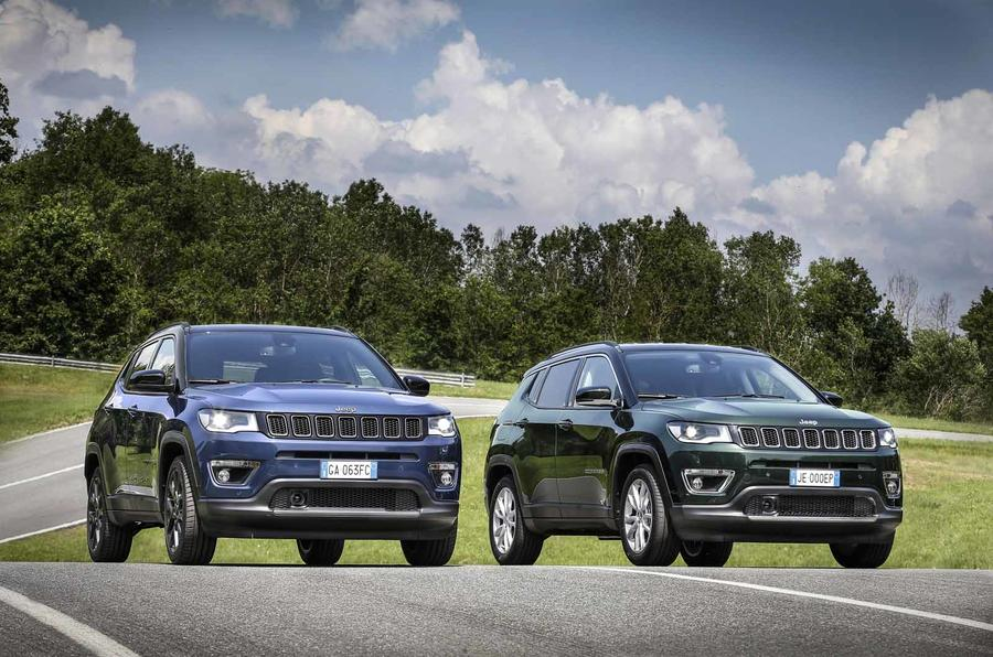 Jeep Compass update front two cars