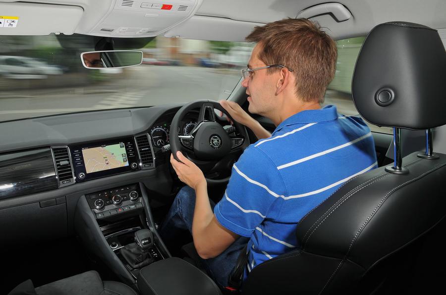 Jim Holder driving the Skoda Kodiaq