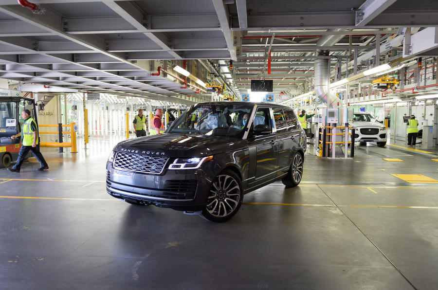 Jaguar Land Rover restarts production with first Range Rover