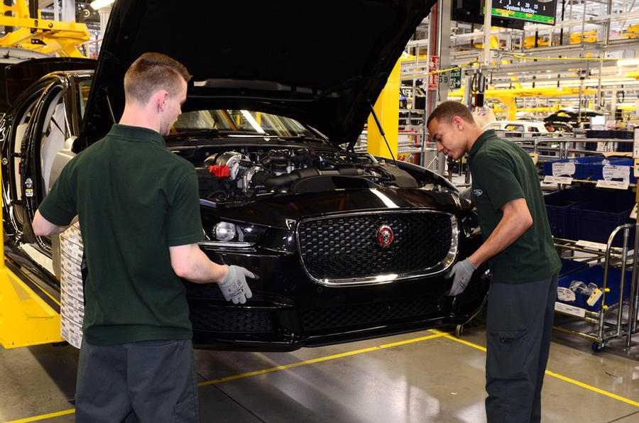 Jaguar XE production line - Solihull