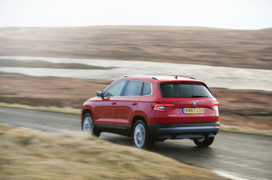skoda karoq a race against time from john o groats to land s end autocar. Black Bedroom Furniture Sets. Home Design Ideas