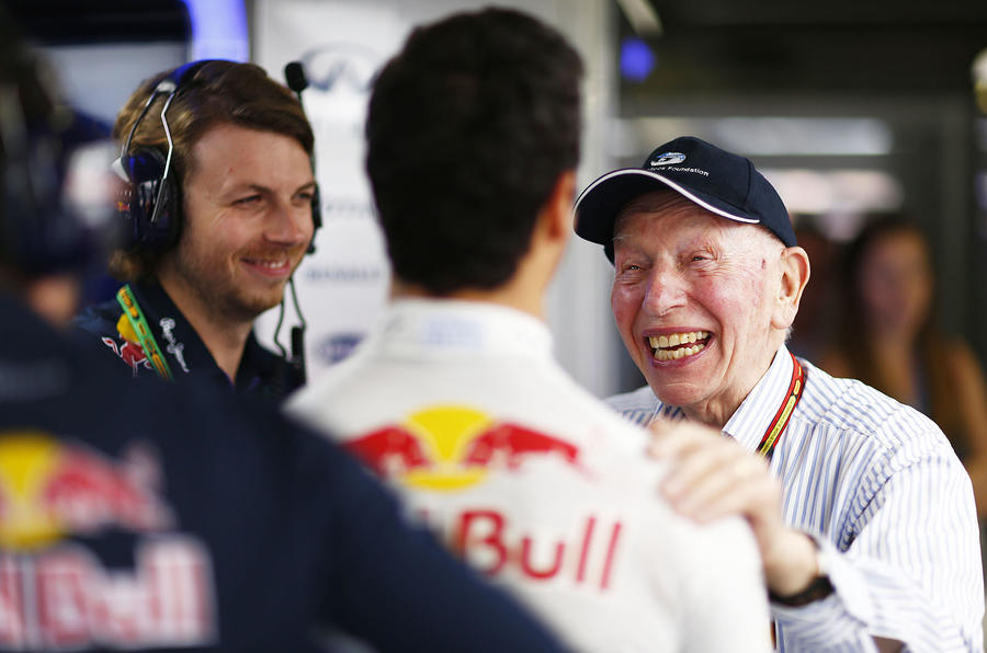 Surtees with Red Bull's Daniel Ricciardo