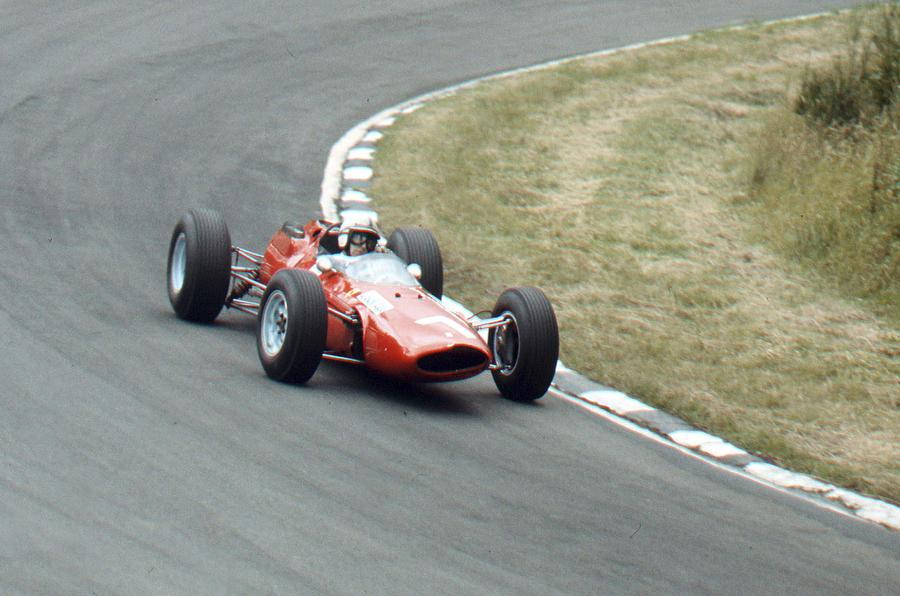 Surtees driving a Ferrari