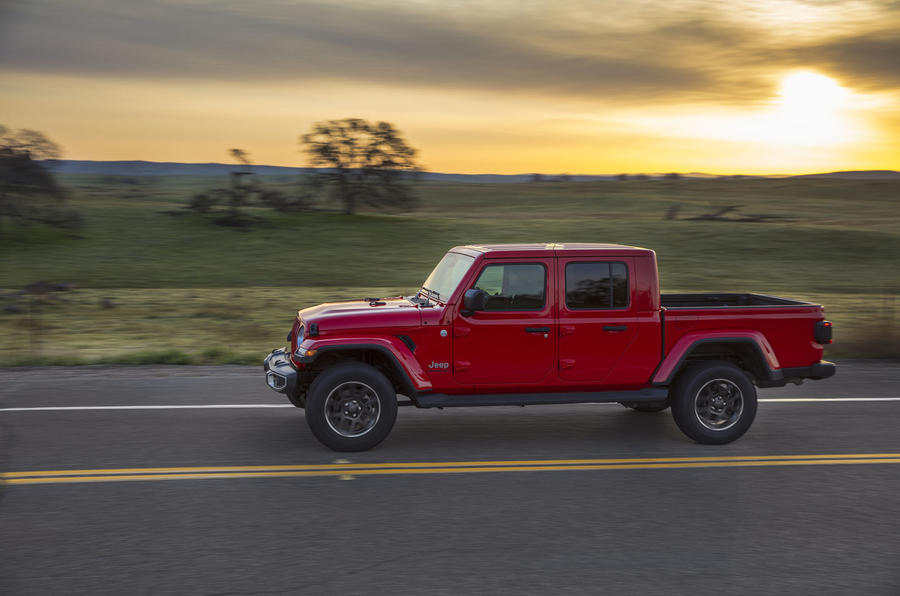 Jeep Gladiator driving - side
