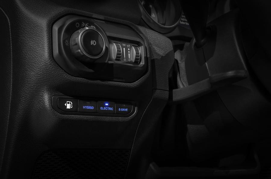 2020 Jeep Wrangler 4xe - control