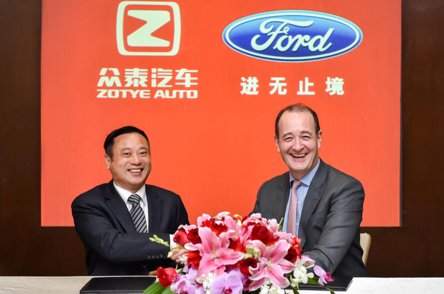 Ford teams up with Zotye for China-only EV brand