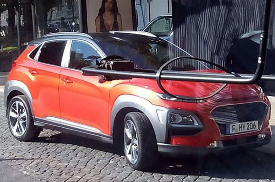 Hyundai Kona spotted undisguised ahead of summer reveal