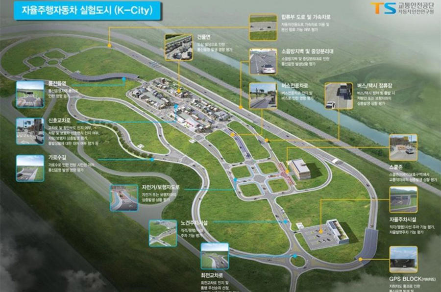 South Korean autonomous car testing city to open in October