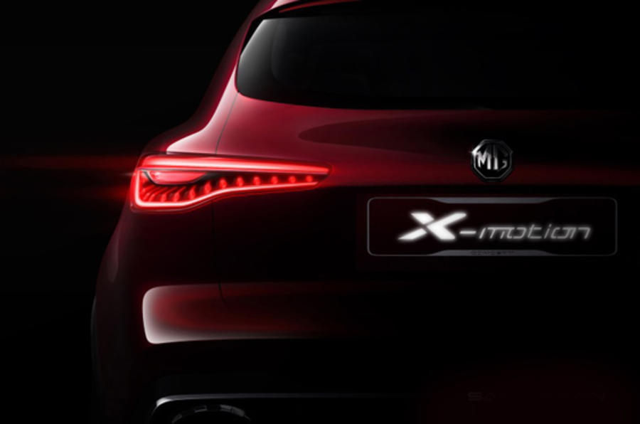New MG X-Motion Concept SUV due at Beijing motor show