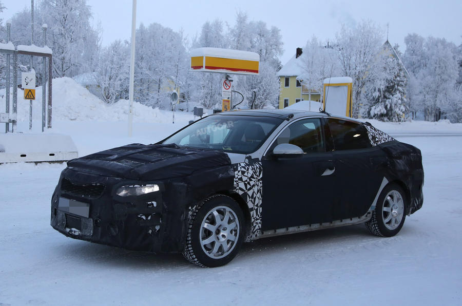 The prototype was undergoing winter testing in Scandinavia