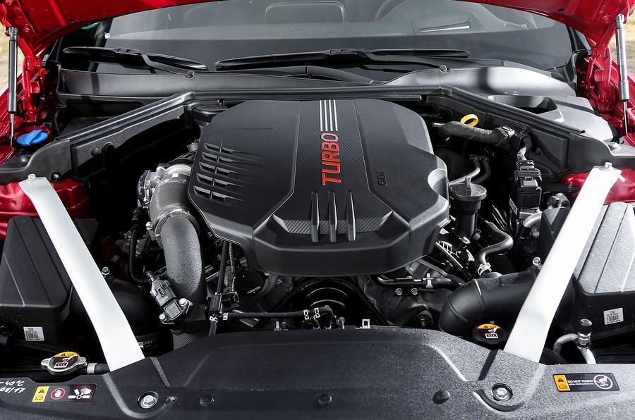 3.7-litre V6 Kia Stinger GT engine