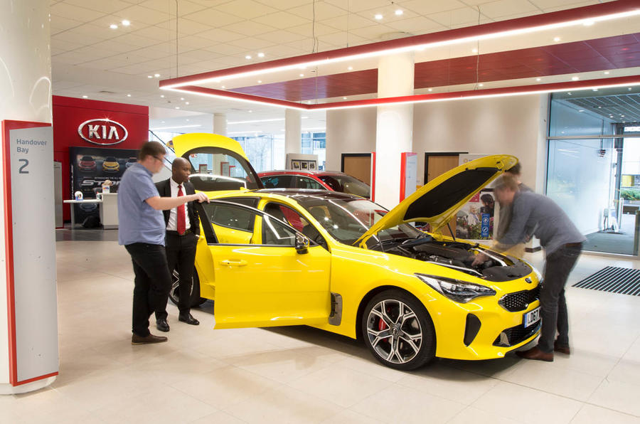 Kia Stinger GT S long-term review keys handover