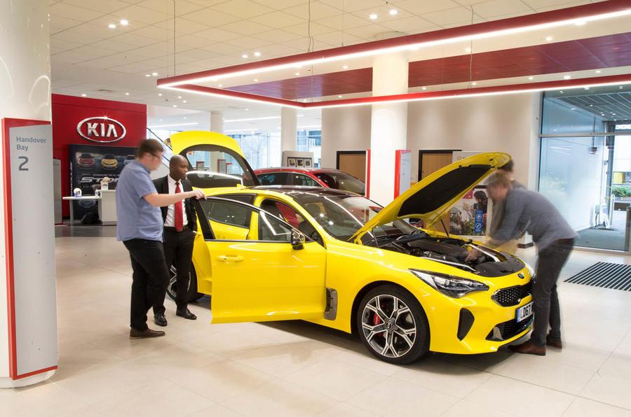 Kia Stinger GT S long-term review keys handover