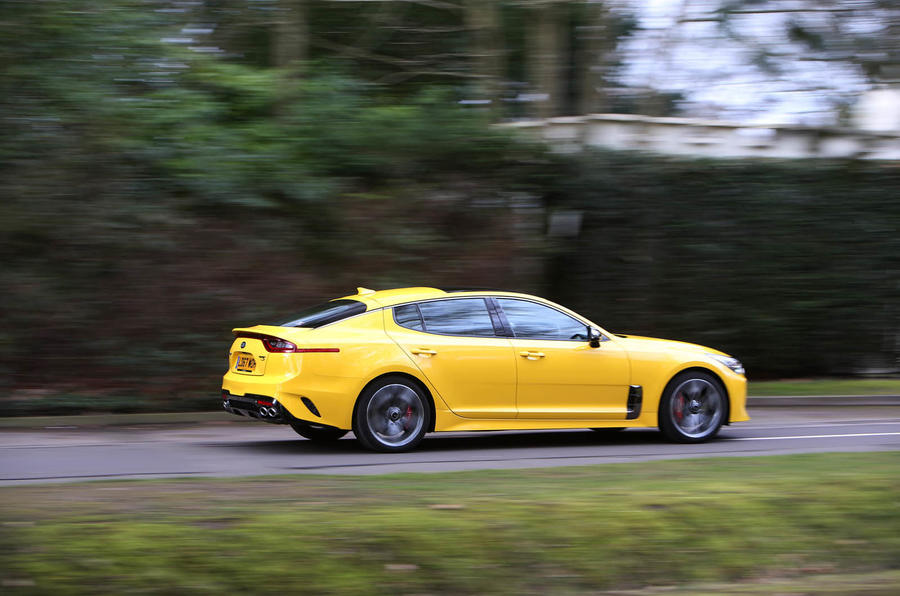 Kia Stinger GT S long-term review action side