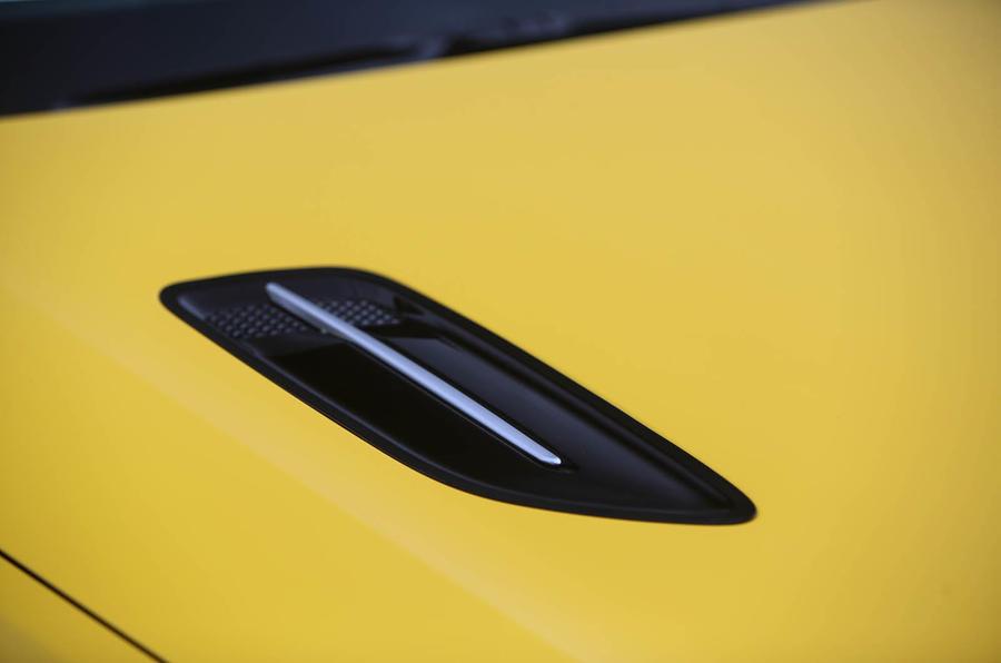 Kia Stinger GT S long-term review bonnet vent
