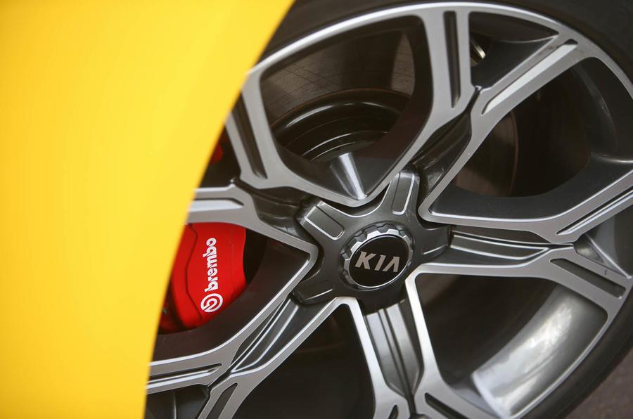 Kia Stinger GT S long-term review brake calipers