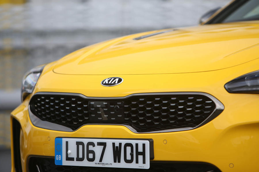 Kia Stinger GT S long-term front bumper