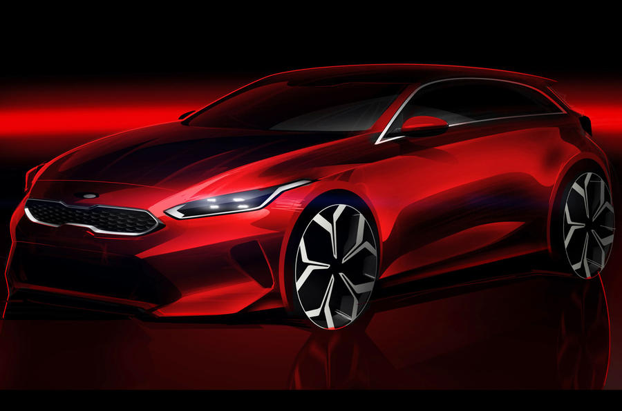 New 2018 Kia Ceed teased in sketch ahead of Geneva reveal