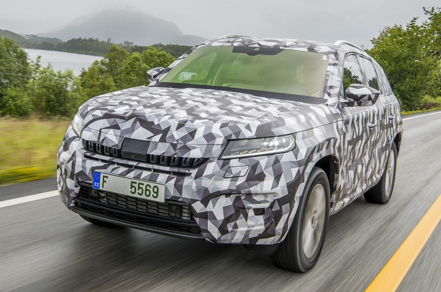 Skoda Kodiaq prototype on road