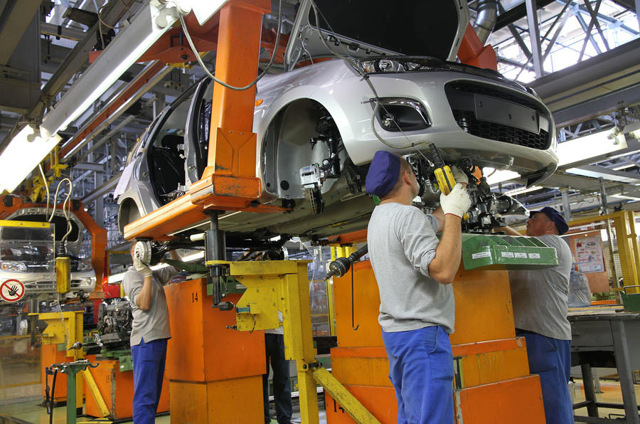 Lada production line