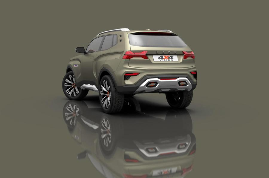 Lada 4x4 Vision rear press