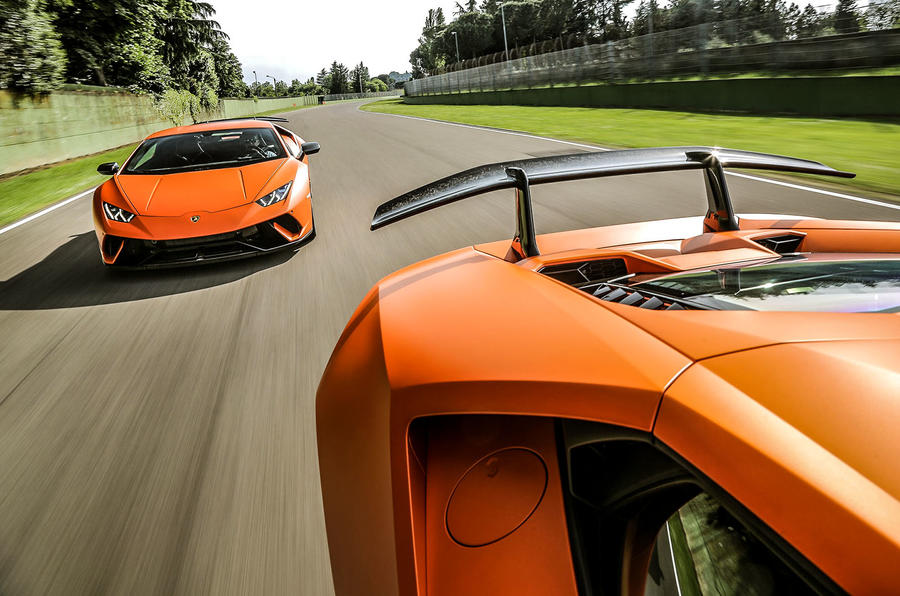 Lamborghini Huracan Performante on track
