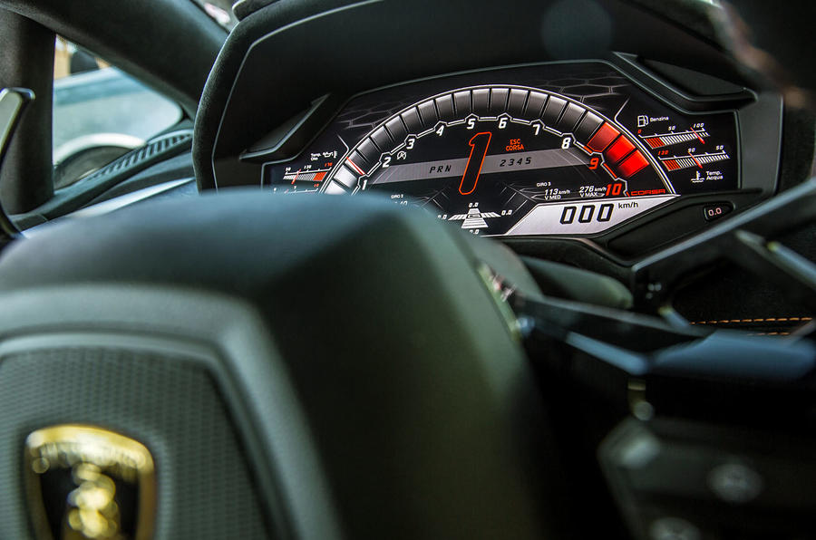 Lamborghini Huracan Performante instrument cluster