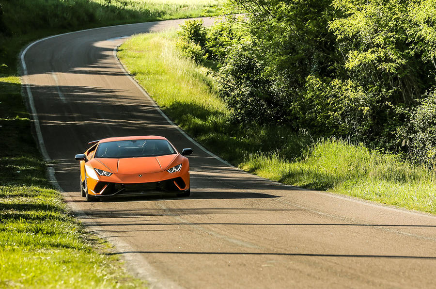 Lamborghini Huracan Performante on the road