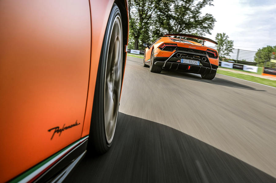 Lamborghini Huracan Performante wheel arch