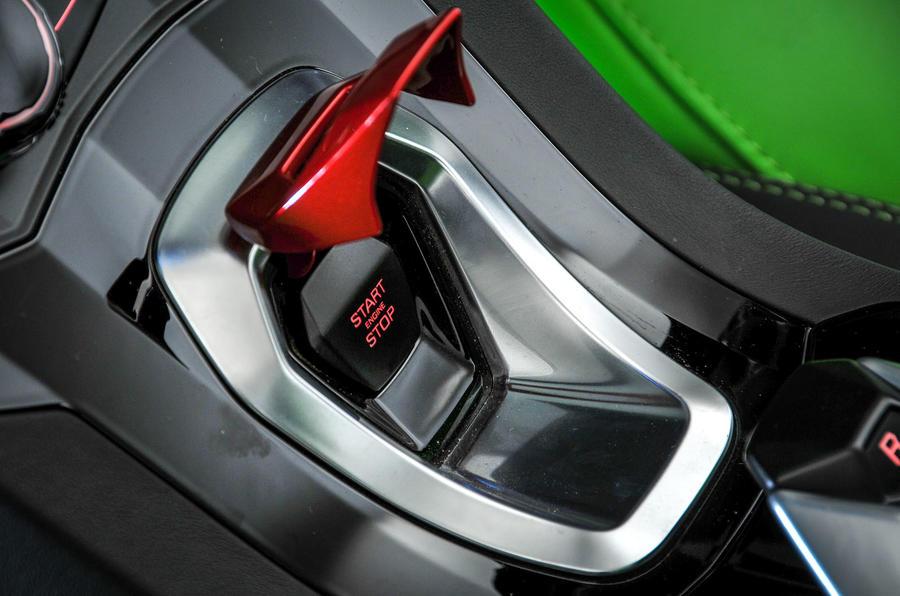 Lamborghini Huracán Spyder ignition button