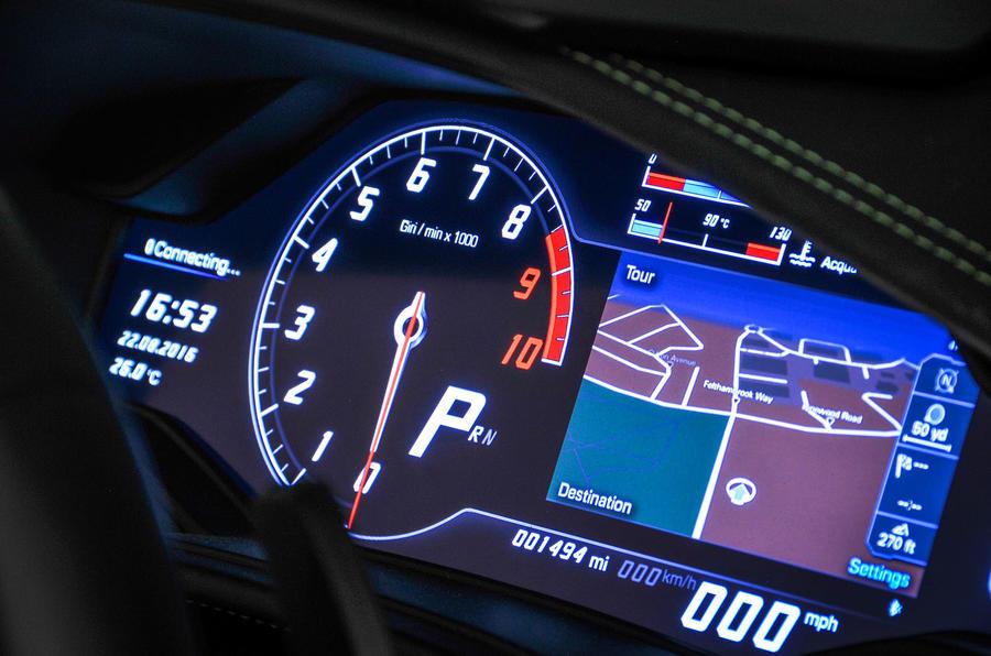 Lamborghini Huracán virtual instrument cluster
