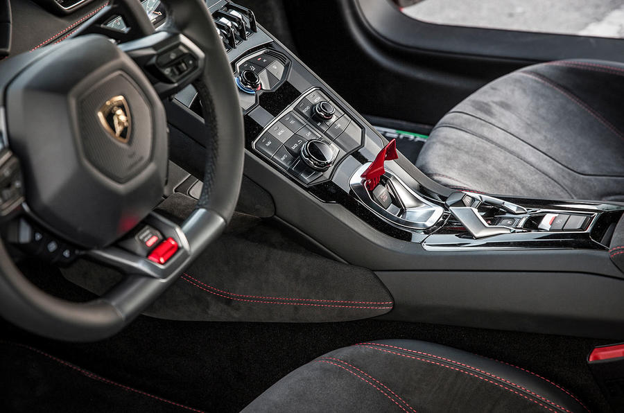 Lamborghini Huracan ignition button