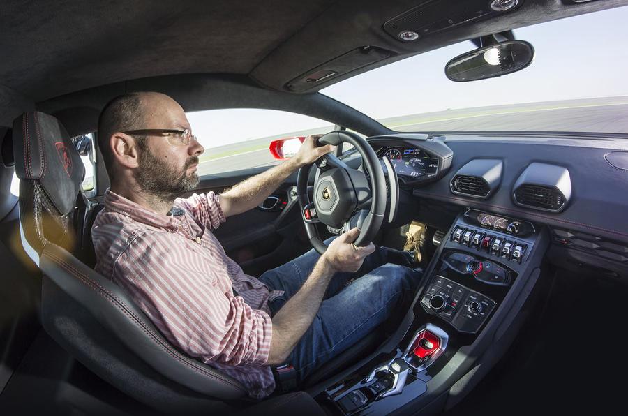 Driving the Lamborghini Huracan