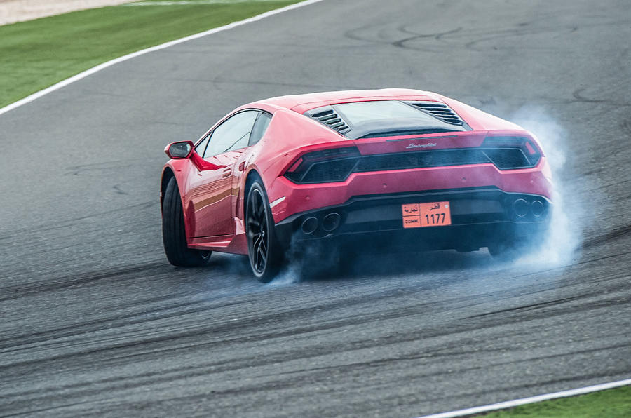Lamborghini Huracan rear drifting