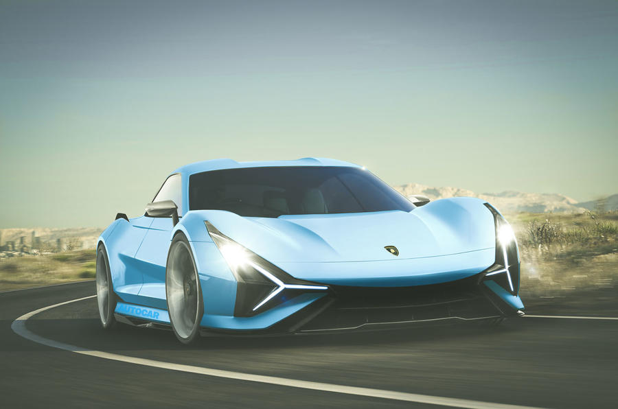 2025 Lamborghini electric GT, imagined by Autocar