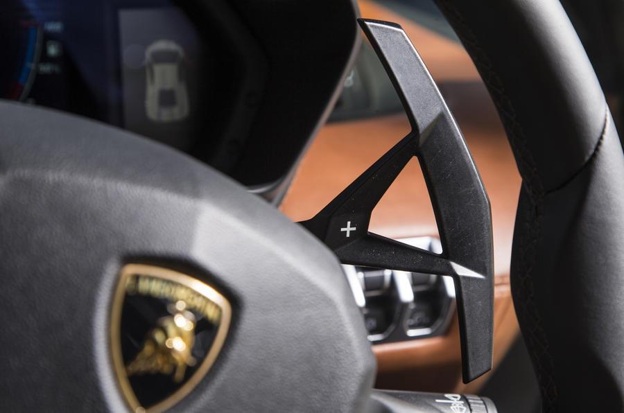 Lamborghini Aventador S paddle shifter
