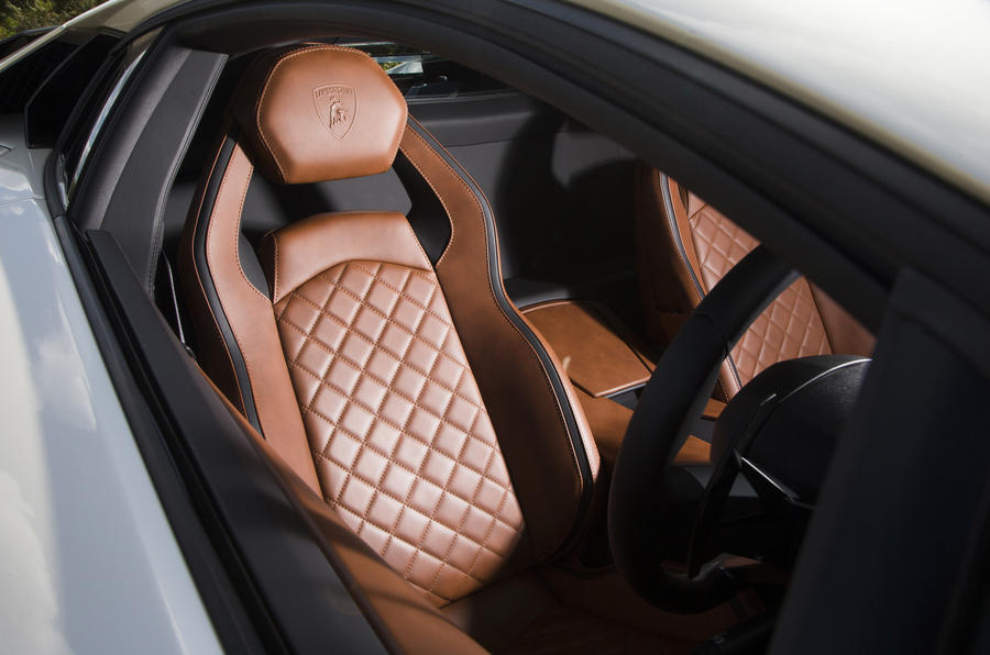 Lamborghini Aventador S quilted leather seats