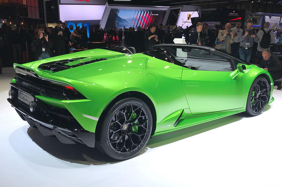Lamborghini Huaracan Evo Spyder Geneva 2019 - hero rear