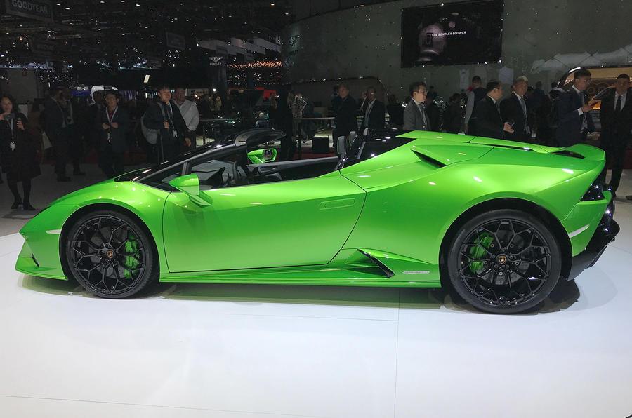 Lamborghini Huaracan Evo Spyder Geneva 2019 - hero side