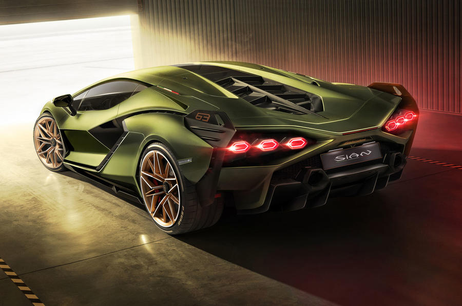 Lamborghini Sian reveal images - static rear