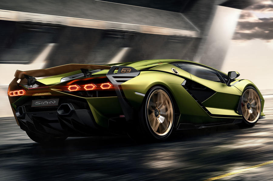 Lamborghini Sian reveal images - rear