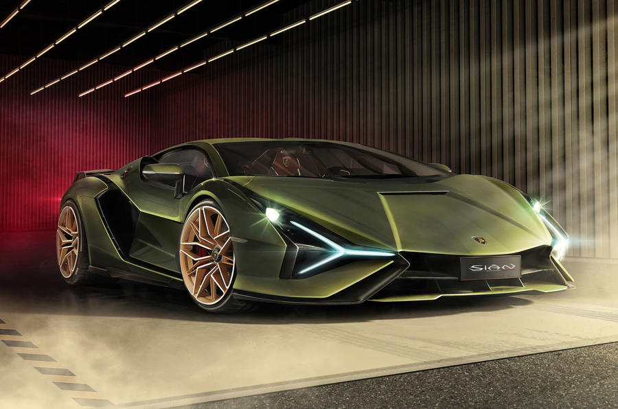 Lamborghini Sian reveal images - static front