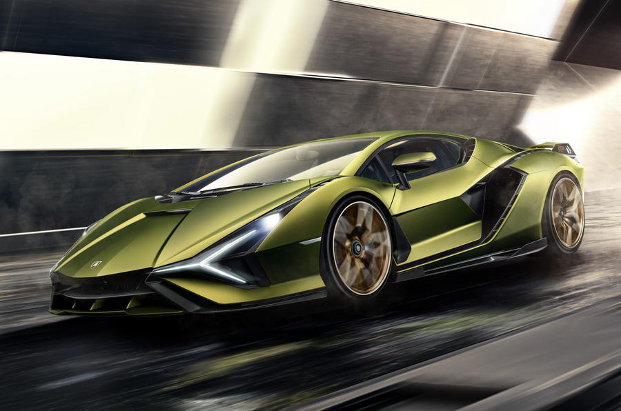 Lamborghini Sian reveal images - hero front