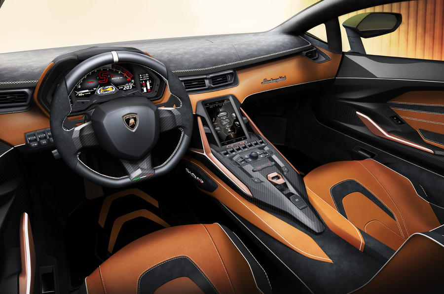 Lamborghini Sian reveal images - interior