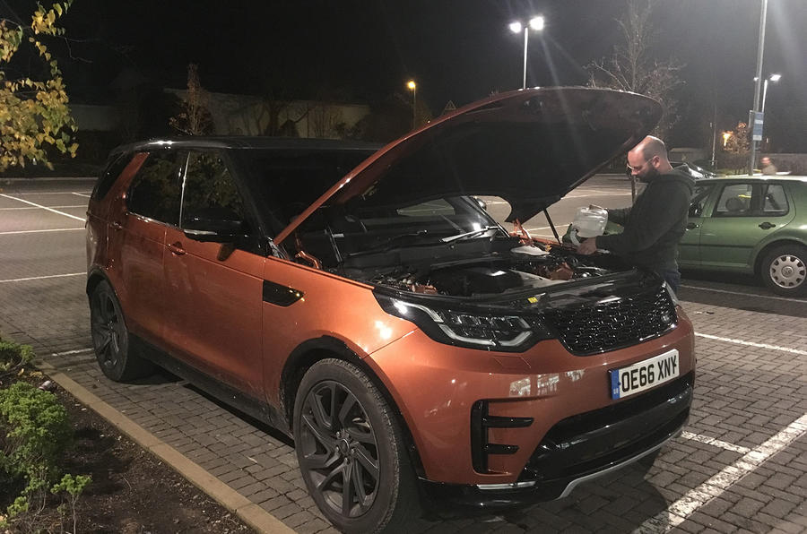 Topping up the Land Rover Discovery AdBlue