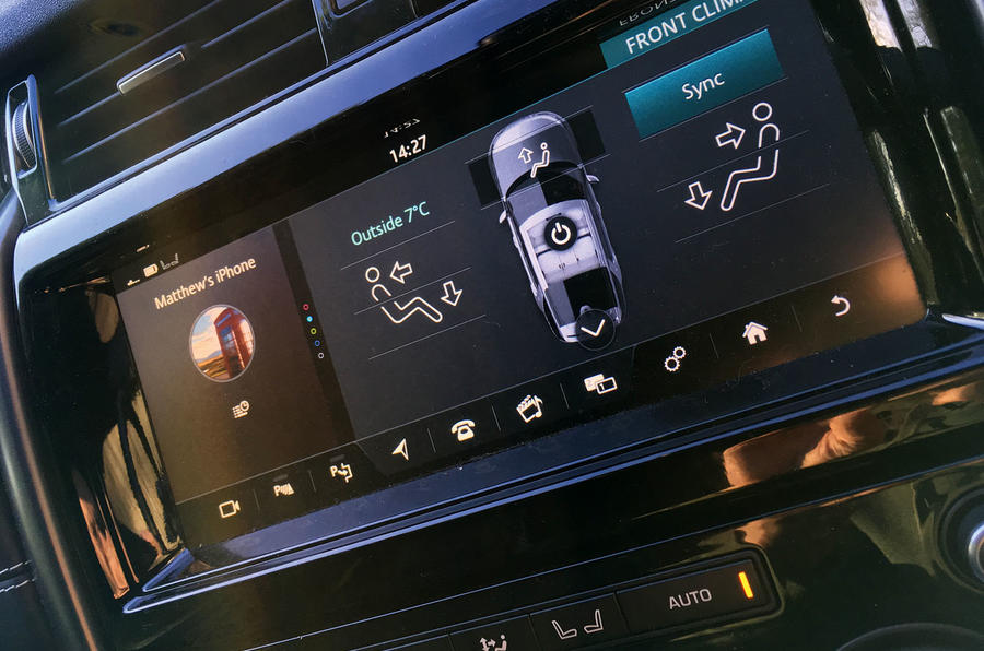 Land Rover Discovery heating controls
