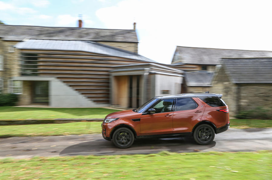 Land Rover Discovery on rural roads