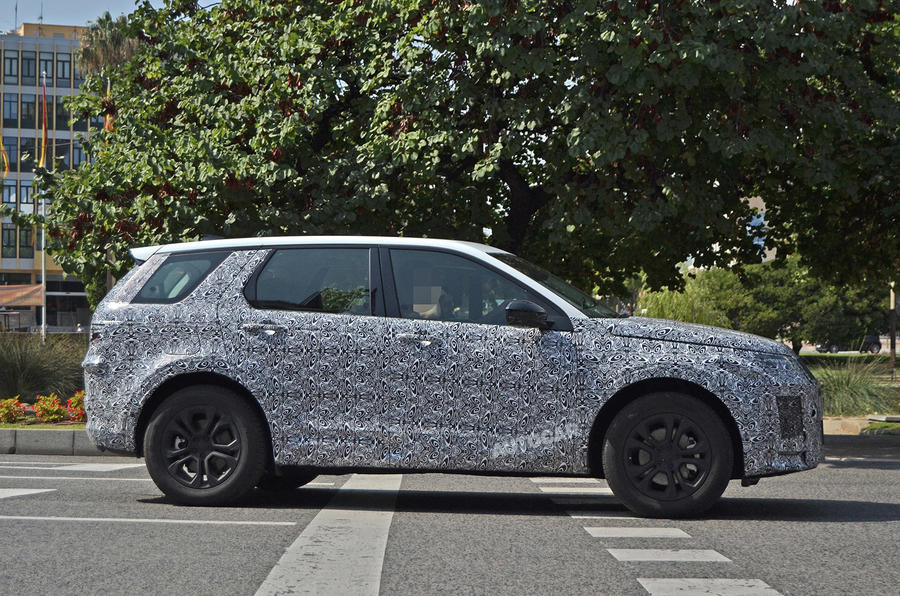 Land Rover Discovery Sport spy shot side profile